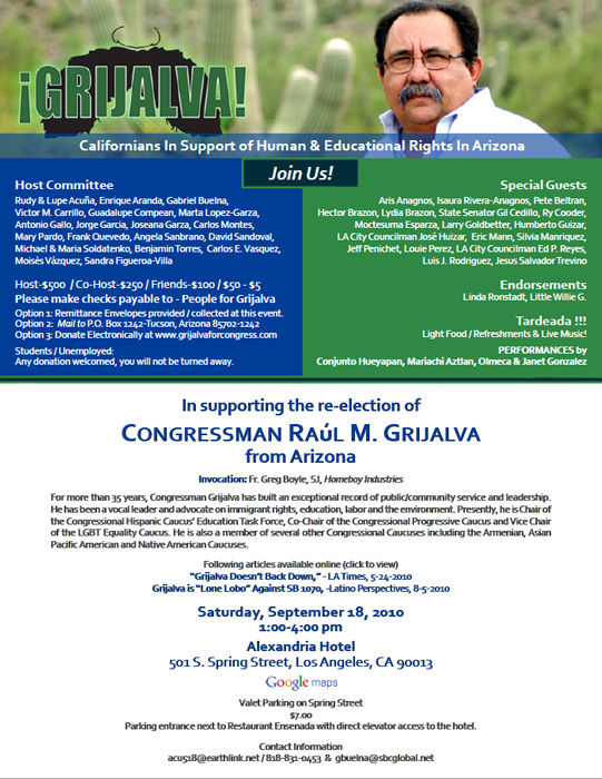 Grijalva Promotional Flier