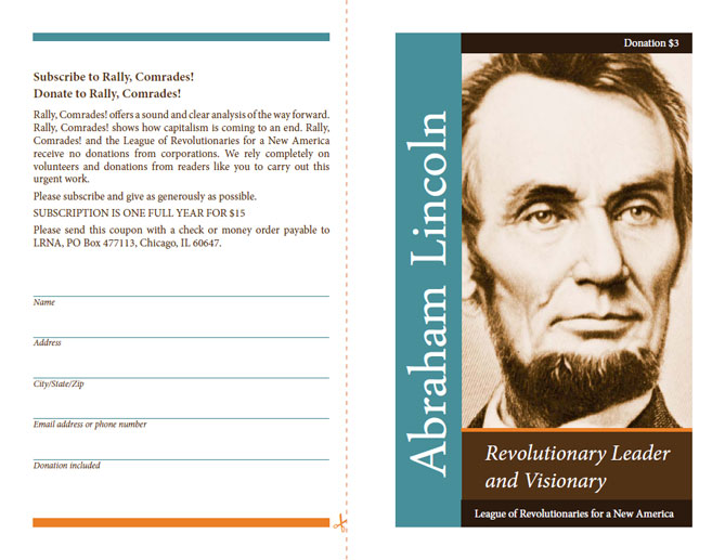LRNA Abraham Lincoln Booklet - Front & Back Cover