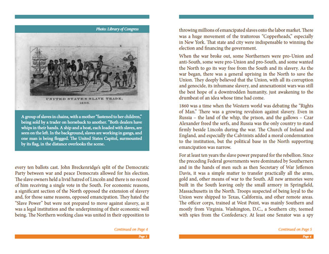 LRNA Abraham Lincoln Booklet - Pages 3 & 4