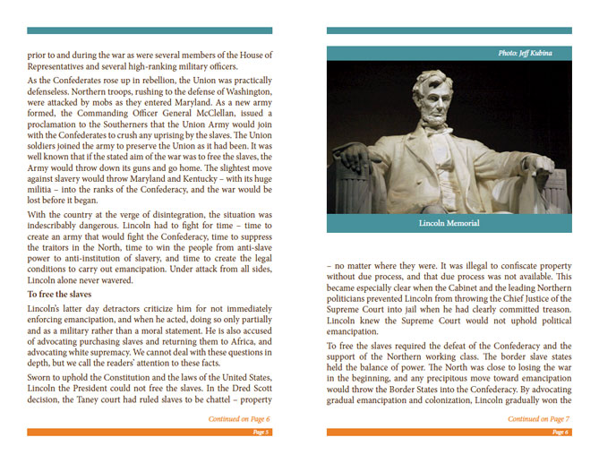 LRNA Abraham Lincoln Booklet - Pages 5 & 6
