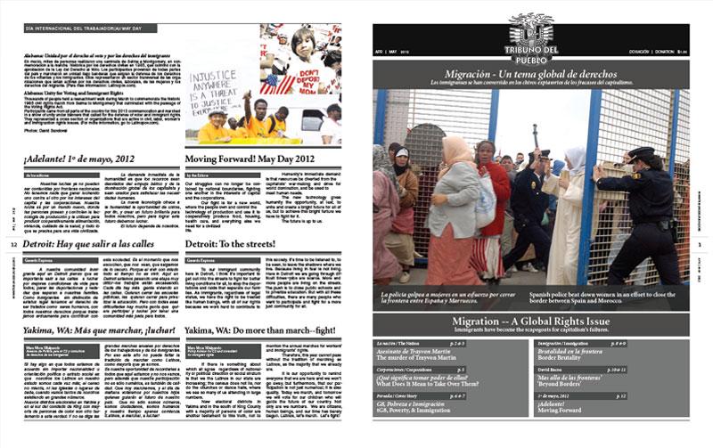Tribuno Del Pueblo - April May 2012 - Front & Back Cover
