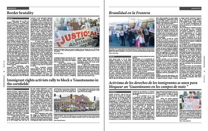 Tribuno Del Pueblo - April May 2012 - Pages 8 & 9