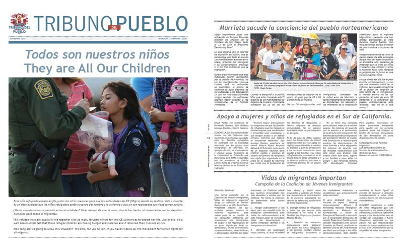 Tribuno Del Pueblo - September 2014 - Front & Back Cover