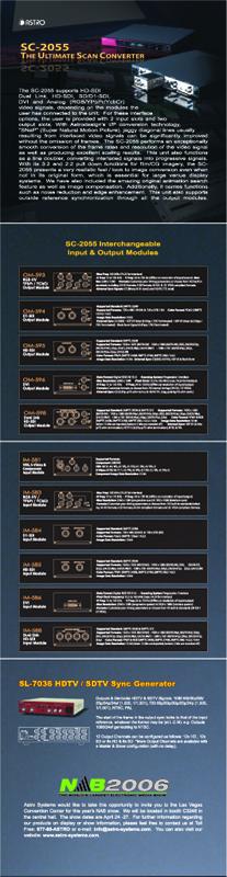 Astrodesign NAB 2006 Promotional Mailer - Inside