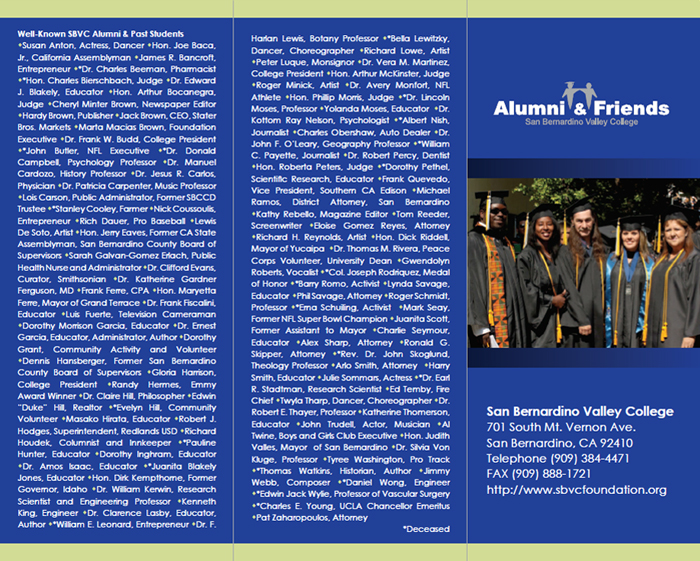 Alumi and Friends Brochure - Outside