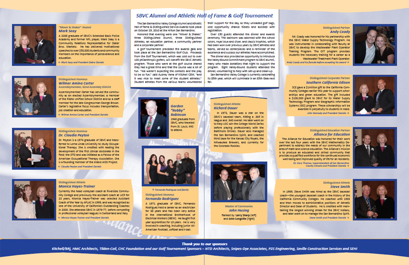 San Bernardino Valley College Alumni & Friends Newsletter - Inner Pages