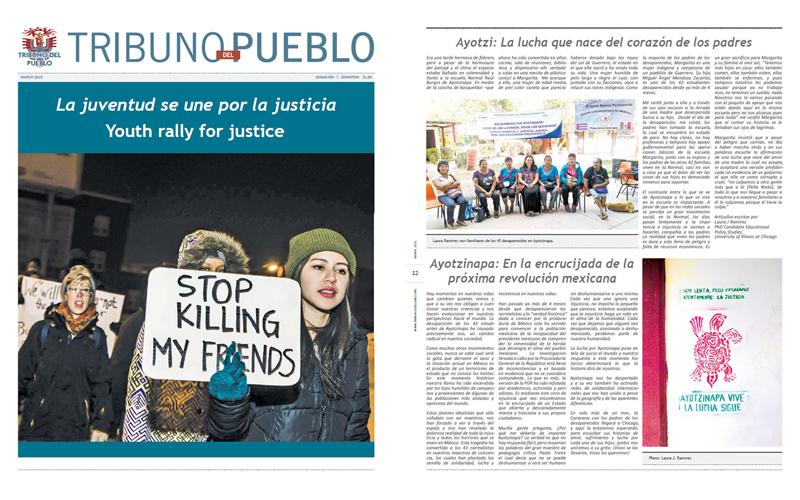 Tribuno Del Pueblo - March 2015 - Front & Back Cover