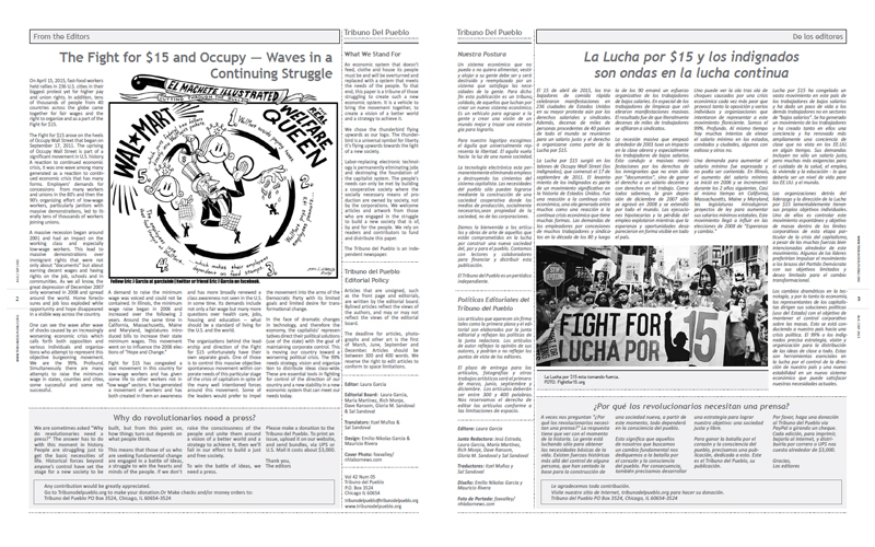Tribuno Del Pueblo - August September 2015 - Pages 2 & 3