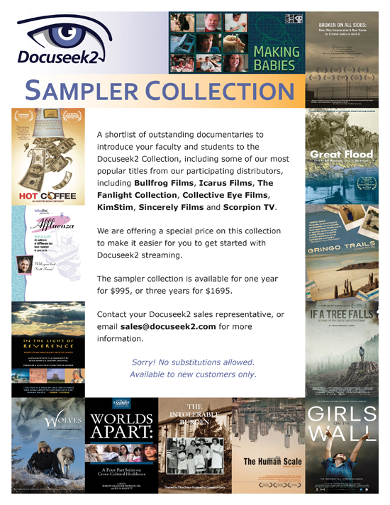 Docuseek2 Sampler Collection Flier
