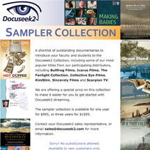 Docuseek2 Sampler Collection Flier
