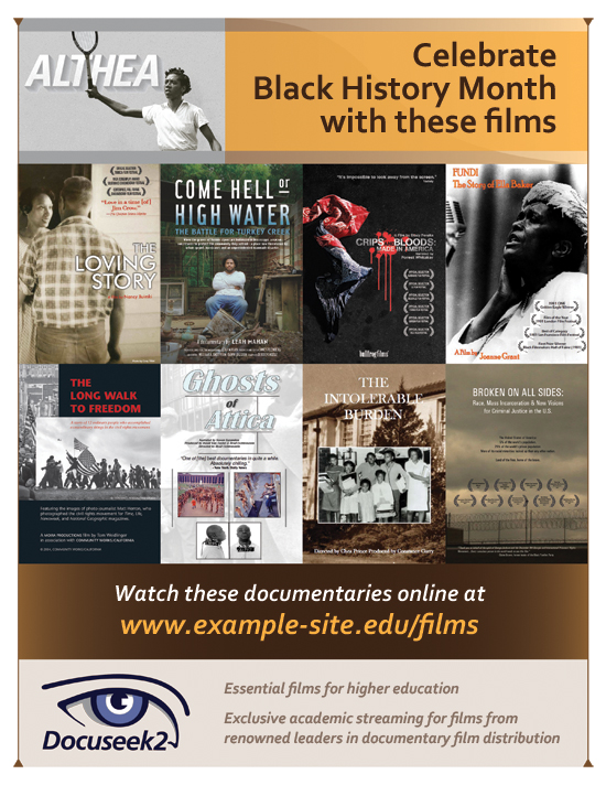 Black History Films Flier