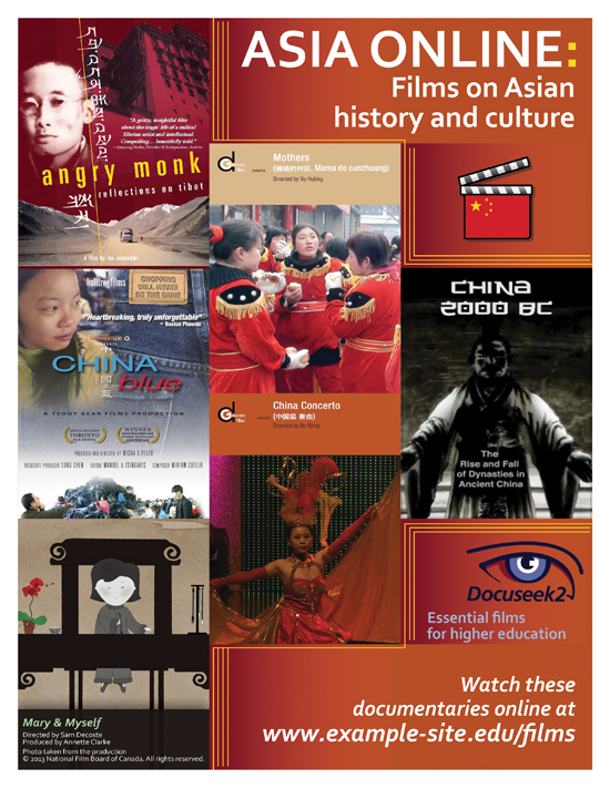 Docuseek2 Asian Studies Films Flier