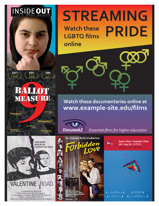 Docuseek2 LGBTQ Films Flier