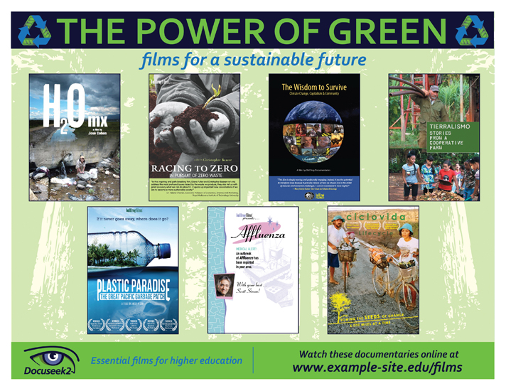 Docuseek2 Sustainability Films Flier