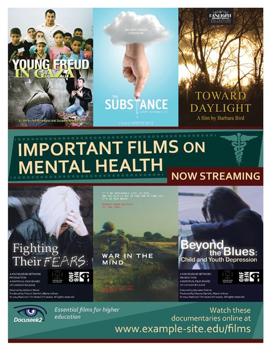 Docuseek2 Mental Health Films Flier