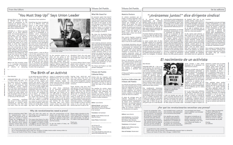 Tribuno Del Pueblo - February March 2016  - Pages 2 & 3