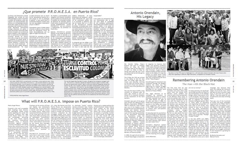 Tribuno Del Pueblo - May June 2016  - Pages 10 & 11