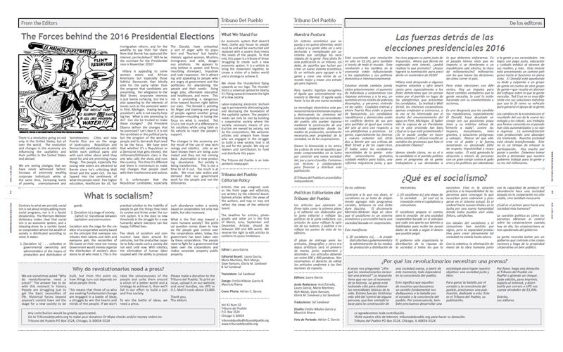Tribuno Del Pueblo - May June 2016  - Pages 2 & 3