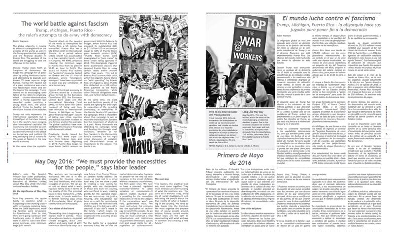 Tribuno Del Pueblo - May June 2016  - Pages 4 & 5