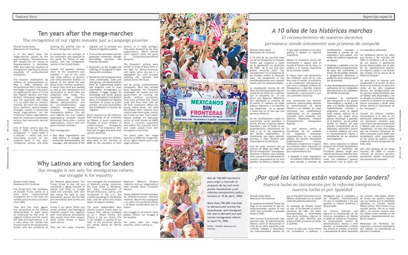 Tribuno Del Pueblo - May June 2016  - Pages 6 & 7