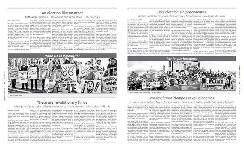 Tribuno Del Pueblo - May June 2016  - Pages 8 & 9