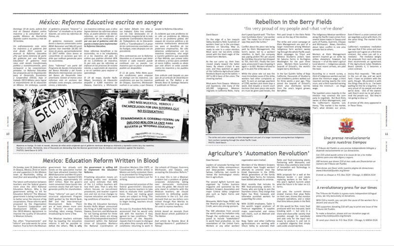 Tribuno Del Pueblo – July August 2016  - Pages 10 & 11