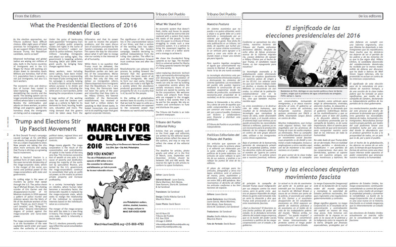 Tribuno Del Pueblo – July August 2016  - Pages 2 & 3