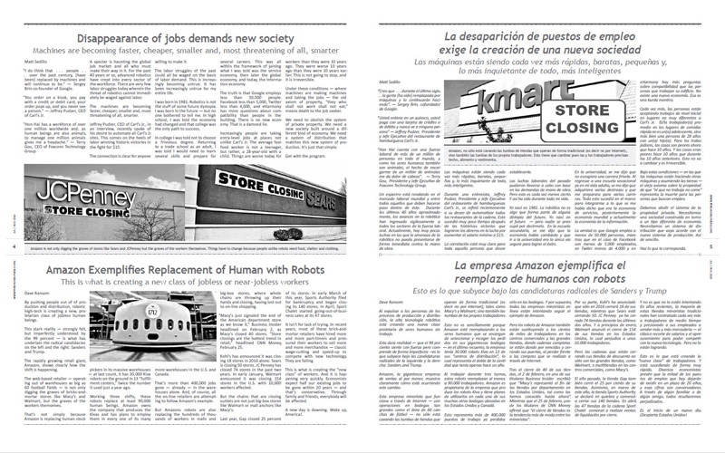 Tribuno Del Pueblo – July August 2016  - Pages 4 & 5