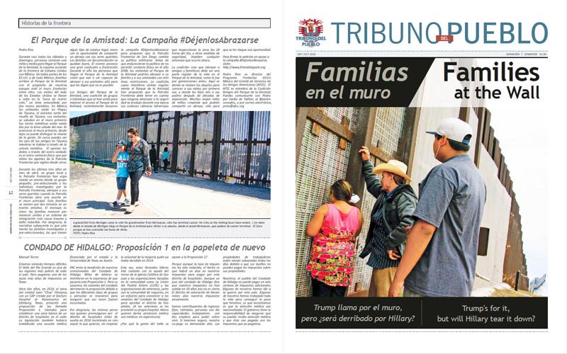 Tribuno Del Pueblo – September October 2016  - Front & Back Cover