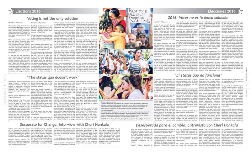Tribuno Del Pueblo – September October 2016  - Pages 6 & 7
