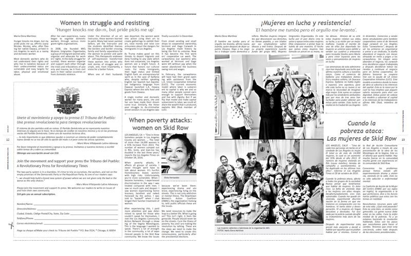 Tribuno Del Pueblo – March April 2017  - pages 12 and 13