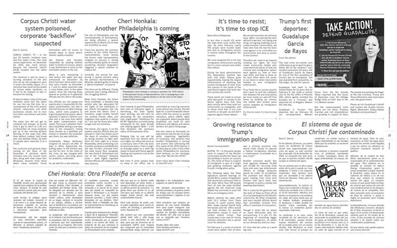 Tribuno Del Pueblo – March April 2017  - pages 14 and 15