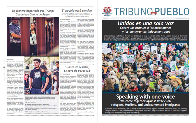 Tribuno Del Pueblo – March April 2017  - Front & Back Cover