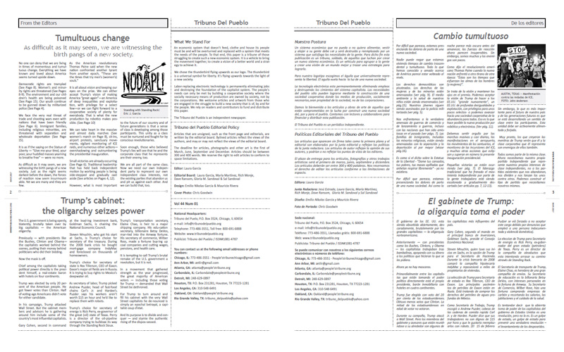 Tribuno Del Pueblo – March April 2017  - pages 2 and 3
