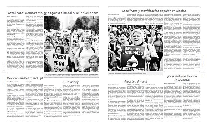 Tribuno Del Pueblo – March April 2017  - pages 6 and 7