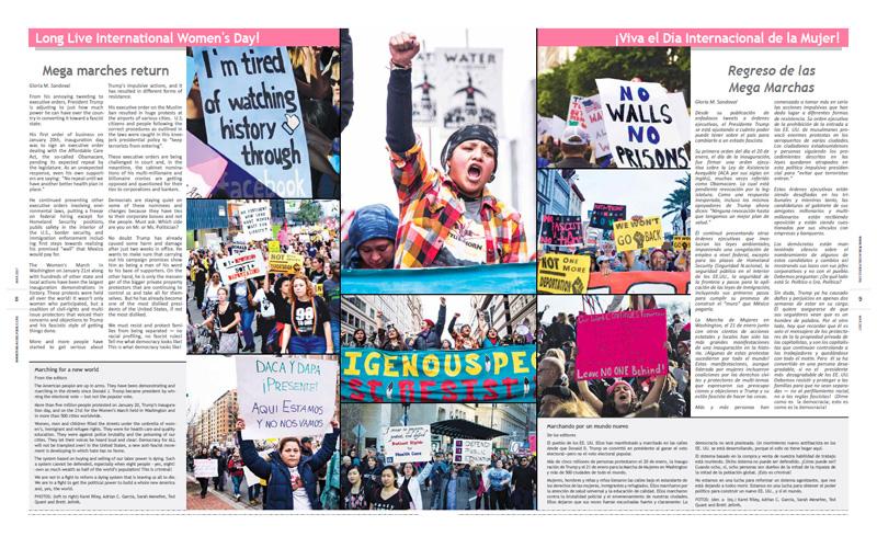 Tribuno Del Pueblo – March April 2017  - pages 8 and 9