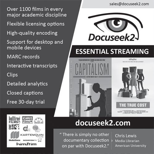 Docuseek2 ad for Against the Grain publication