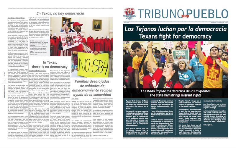 Tribuno Del Pueblo – July 2017 - Front & Back Cover