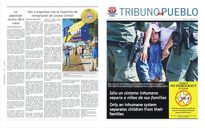 Tribuno Del Pueblo – July 2017 - Front & Back Cover