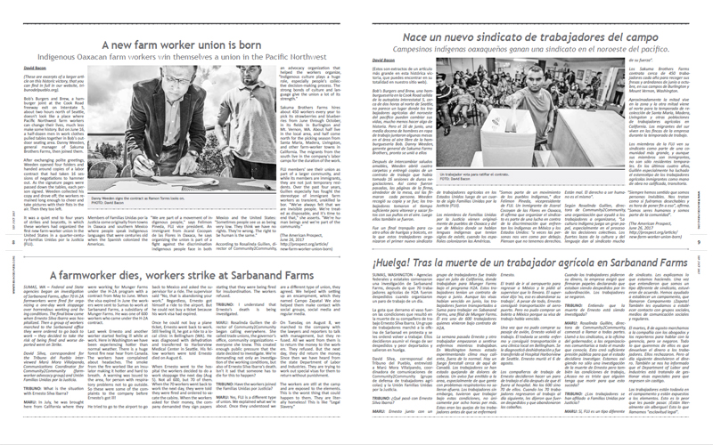 Tribuno Del Pueblo – September October 2017 - pages 8 and 9