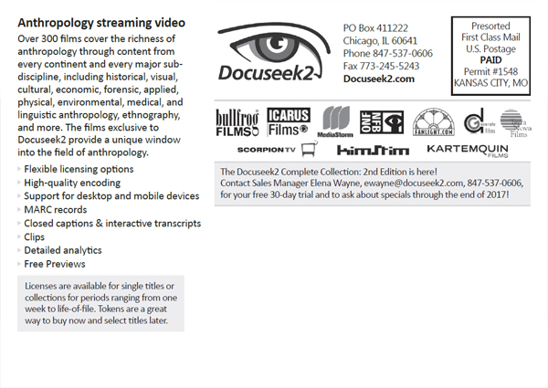 Docuseek2 Fall 2017 postcard back