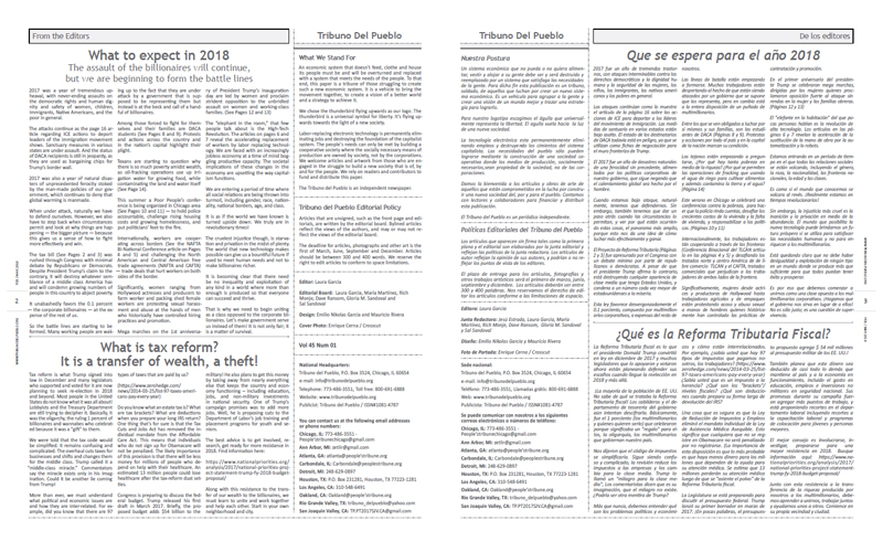 Tribuno Del Pueblo February March 2018 - pages 2 and 3