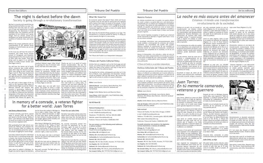 Tribuno Del Pueblo April May 2018 - pages 2 and 3