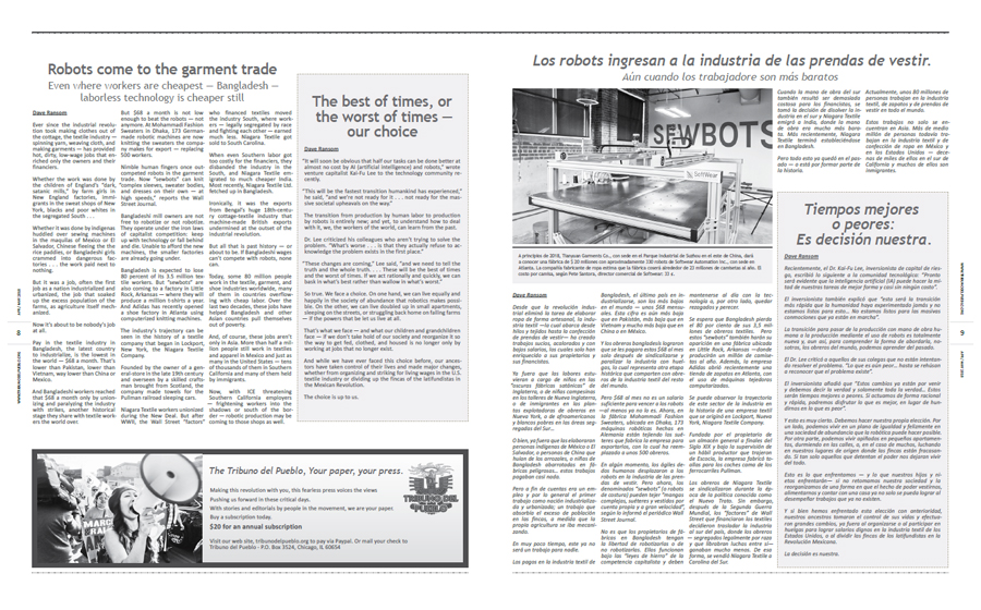 Tribuno Del Pueblo April May 2018 - pages 8 and 9
