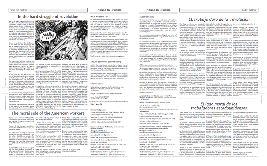 Tribuno Del Pueblo June July 2018 - pages 2 and 3