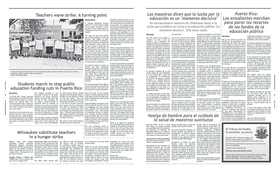 Tribuno Del Pueblo June July 2018 - pages 4 and 5