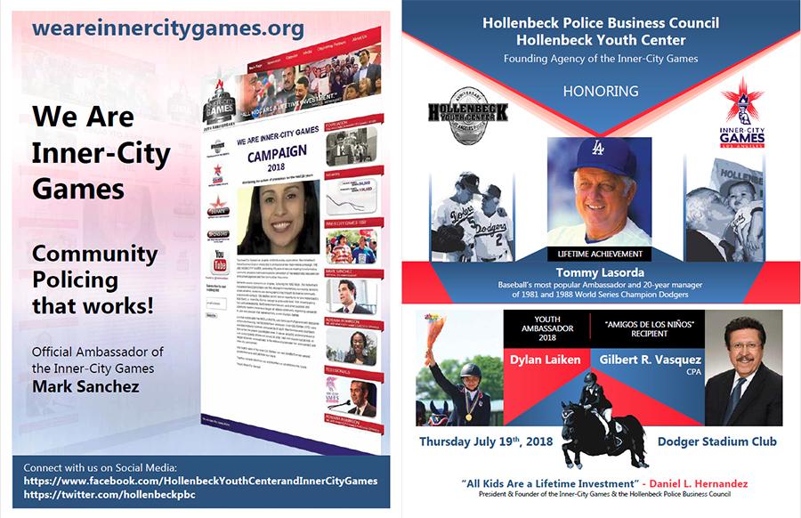 Hollenbeck Dodgers Book 2018 Front & Back Cover