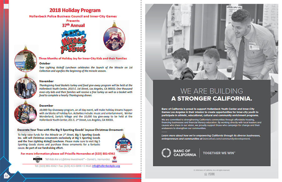 Hollenbeck Dodgers Book 2018 Pages 32 and 33