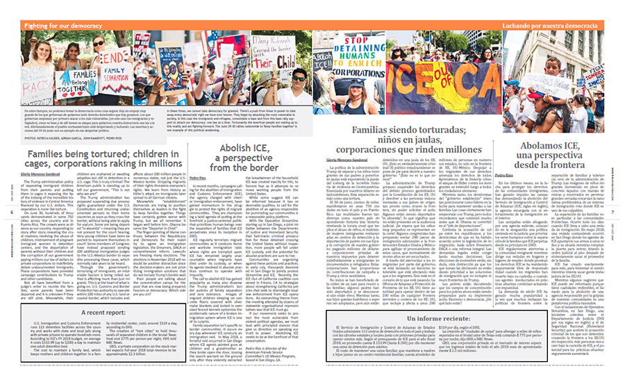 Tribuno Del Pueblo September October 2018 - pages 6 and 7
