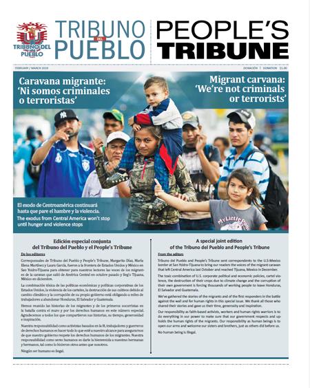 Tribuno Del Pueblo February March 2019 - front cover